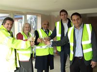 Topping out at the new care home