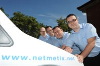 Engineers from Netmetix: (From Left to Right) Andy Child, Richard  Gillis, Ashleigh Warner & Steven Watson