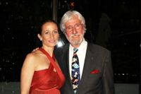 Celine Cousteau with her father Jean Michel Cousteau - NY