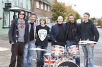 Alex Hudd, Rick Buckler (4th left, Drummer from The Jam), Andy Wraight