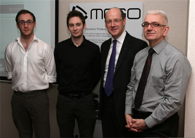 Craig Lynn, Danny Kane, John Swinney MSP and Stephen Mitchell