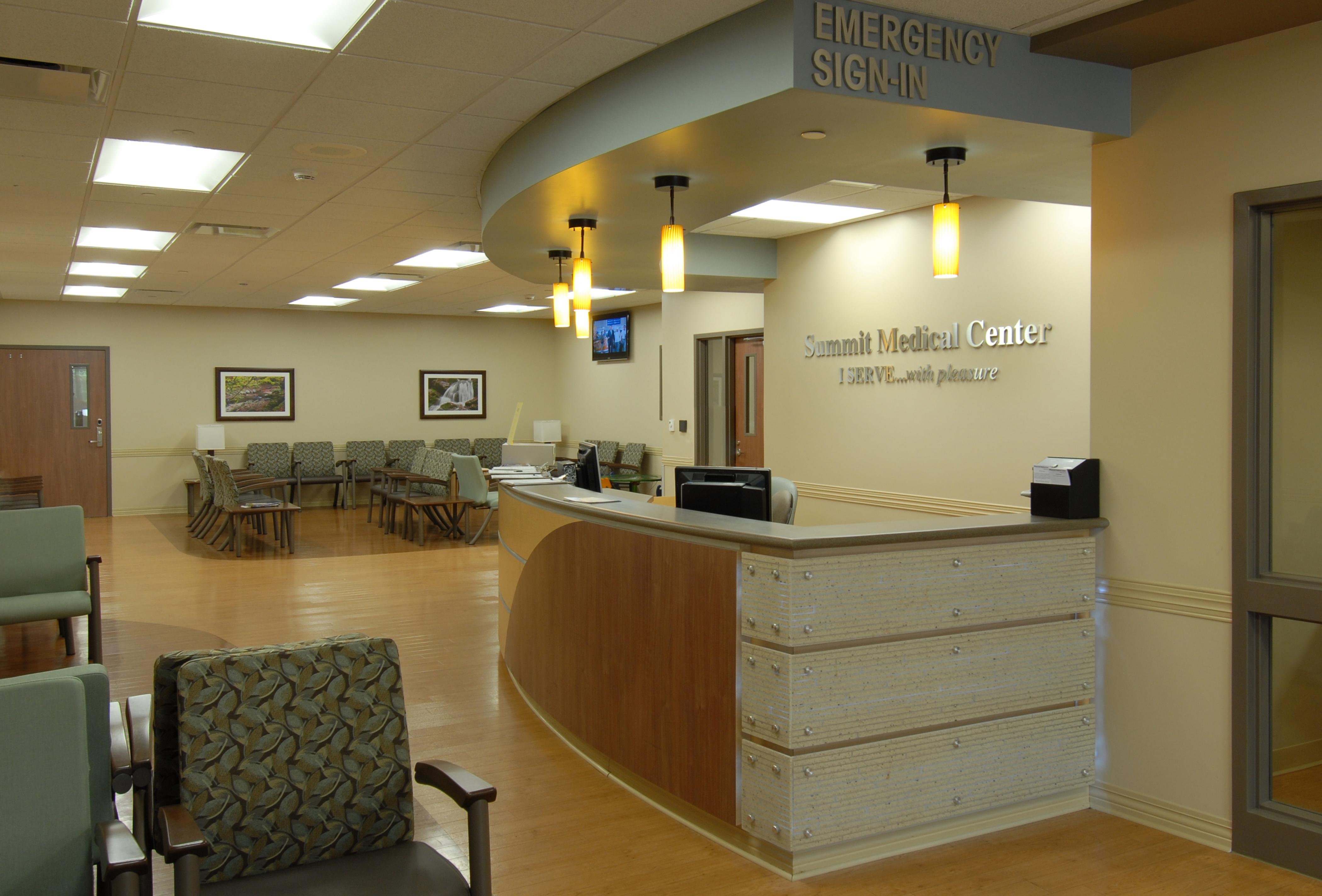 Renovation of summit medical center emergency department for Door design lab