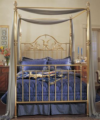 Charles P. Rogers brass bed
