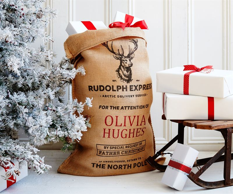 The Caxton Personalised Christmas Sack
