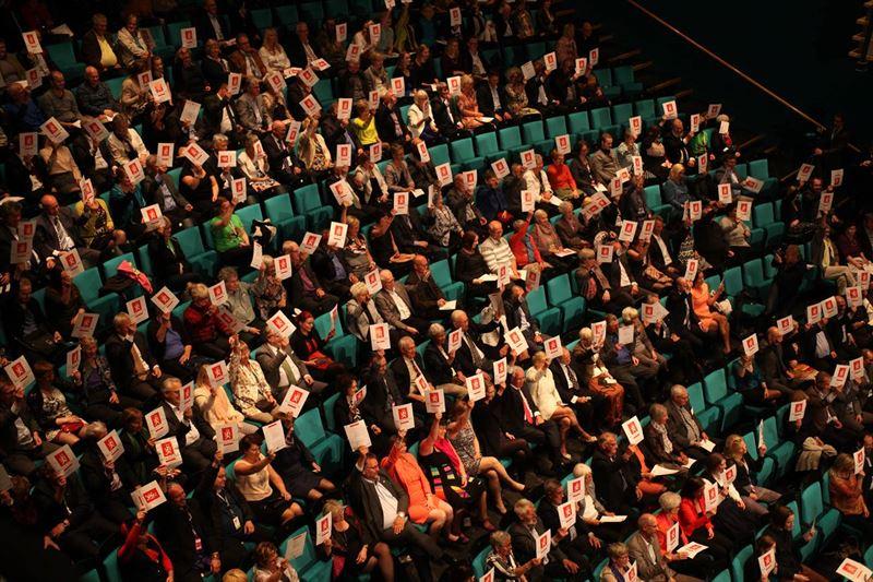 Publik under Amund Sjlie Sveens performance NORDTING under Festspillene i NordNorge