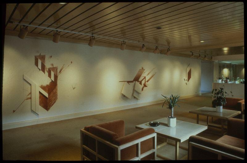 Lars Millhagens verk Utan titel 1983 finns i Rosenbad utanfr statsministerns