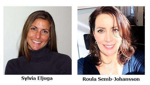 Sylvia Eljuga och Roula Semb-Johansson