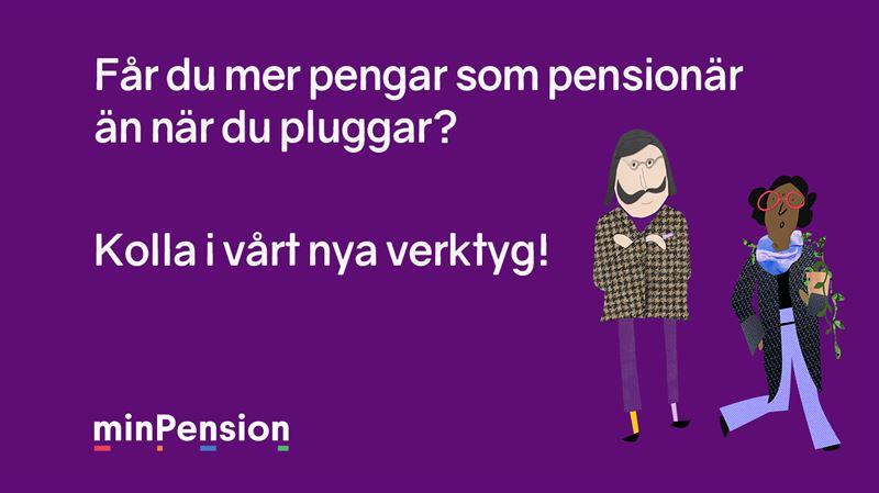 Mer pengar som pensionär än när du pluggar - Testa i Min Pensionär