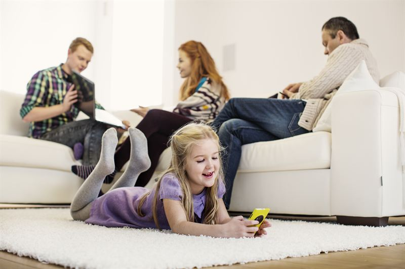 mobilt bredband familj