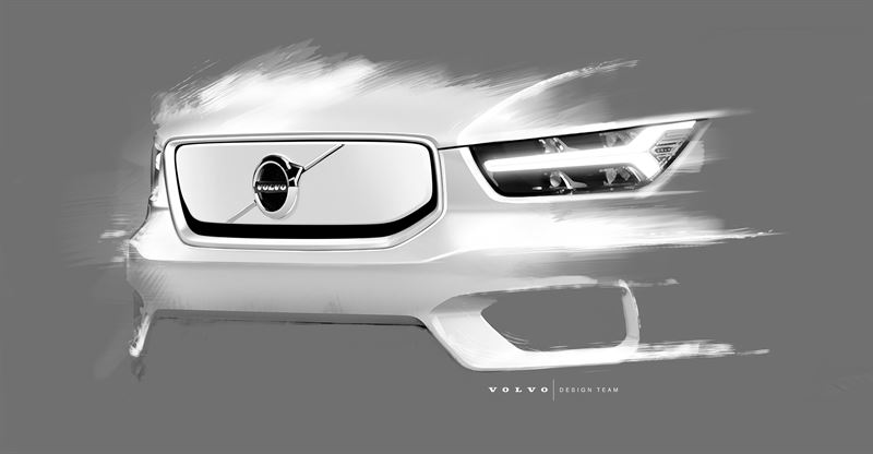 Volvo Electric Suv >> 258580 Design Sketch Of Volvo Cars Fully Electric Xc40 Suv