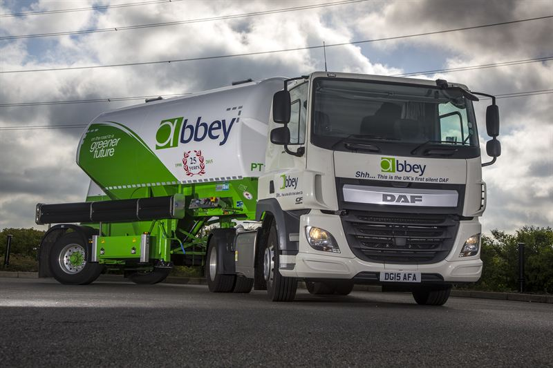 DAF Trucks and Abbey Logistics collaborate on UK's first DAF