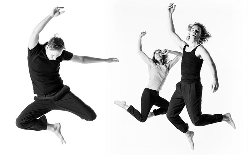 Helsingin Kaupunginteatteri Helsinki Dance Comapany Carl Knif Company Kaksivrinen fuuga Kuvassa Jyrki Kasper Jonna Aaltonen Mikko Paloniemi Kuva Yoshi Omori