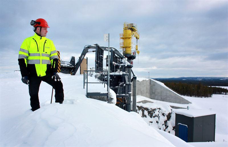 Niclas Svanelv sektionschef gruva Svappavaara vid primrkrossen i Mertainen som planeras att bli tagen i drift till hsten