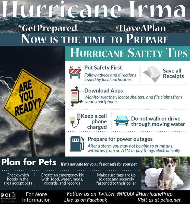 Hurricane Irma Hurricane Safety - Property Casualty Insurers