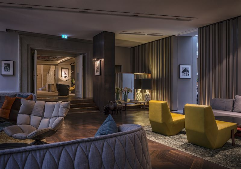 Die Lobby Im Wohnzimmer Das Stue Hotel Berlin Tiergarten