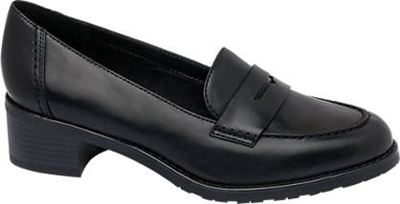 Graceland Ladies Black T bar Sandal | Deichmann