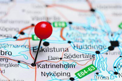 katrineholm-pinned-on-map-sweden