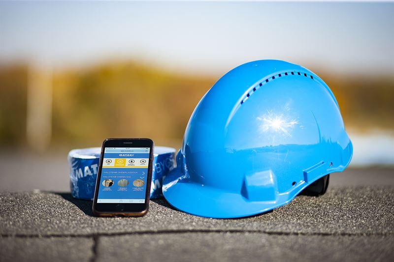 Mataki har tagit fram en webbapp fr att underltta montering av underlagstckning p tak samt luft och ngttning av vggar