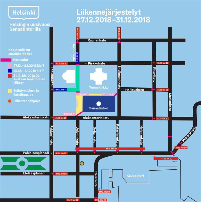 Uv Kartta Liikennejarjestelyt Helsinki Marketing