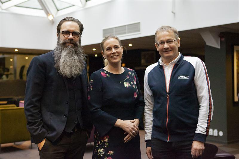 Tomas Uddin Landshypotek Bank Catharina bjrnsson Lindgren Landshypotek Bank och Lars Blter Dansbandsveckan fr v till h