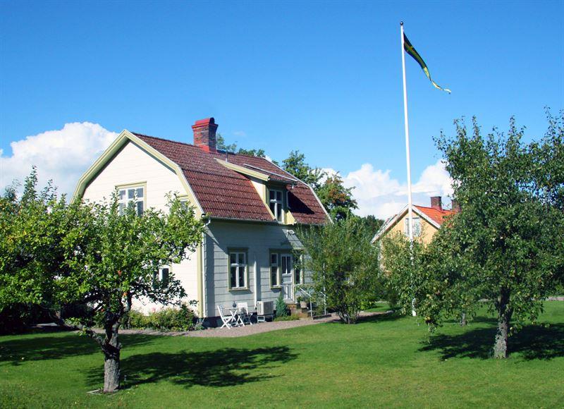 Bild trdgrd med hus