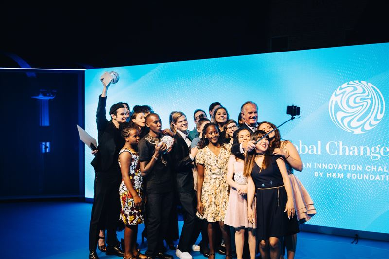 Stefan Persson och vinnare av Global Change Award 2019