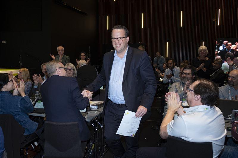Unionens frbundsordfrande Martin Linder omvald