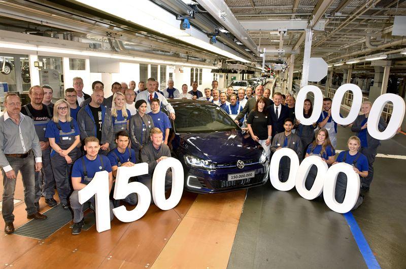 Volkswagenin 150 miljoonas auto on valmistunut