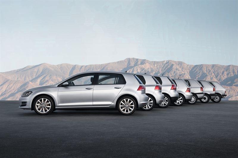Volkswagen Golfin seitsemän sukupolvea