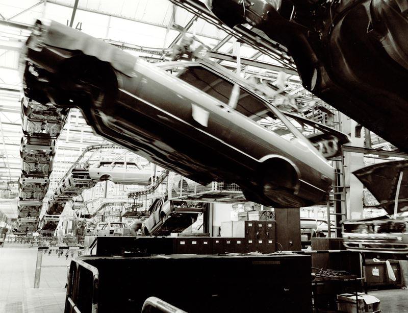 Volkswagen Passatin tuotantoa Emdenin tehtaalla vuonna 1978
