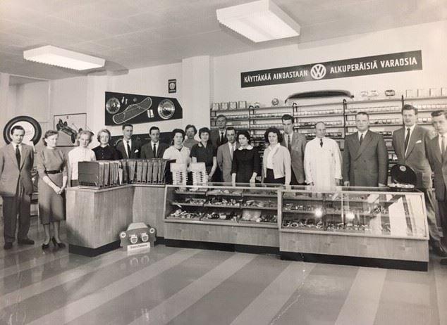 Volkswagen myymälä 1958