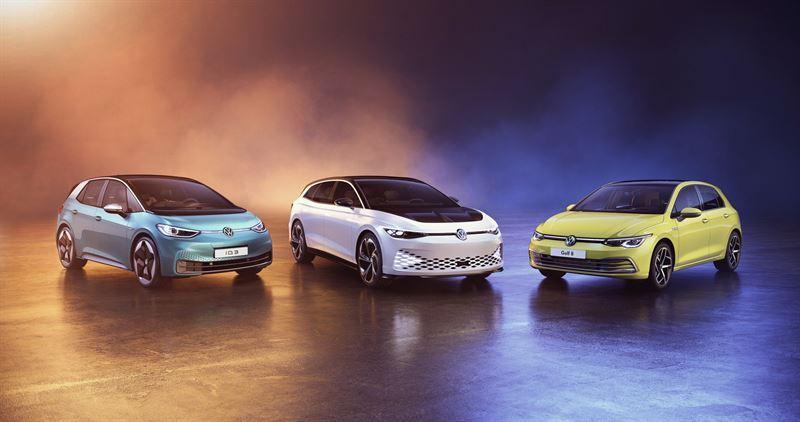 Volkswagenin voittokolmikko: ID.3, ID. SPACE VIZZION -konseptiauto ja uusi Golf