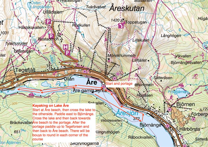 åre karta HÅEC Karta paddling   Haglöfs Åre Extreme Challenge åre karta