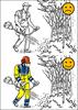 Illustration ur boken Jobba säkert i skogen