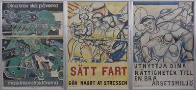Äldre affischer om arbetsmiljö