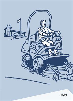 "Omslag ""Jobba säkert på golfbanan"""