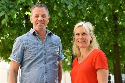 Johan Mellnäs och Lisa Markström
