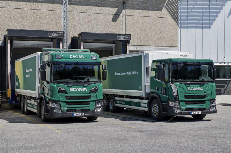 Dagab Scania laddhybrid helelektrisk