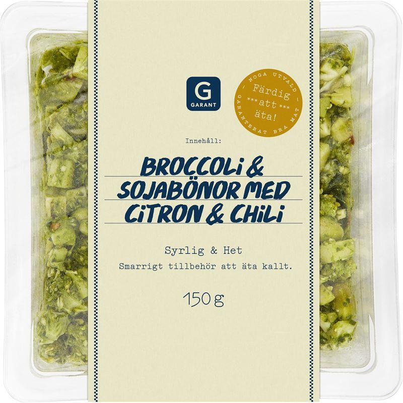 Garant broccoli sojabönor med citron och chili 150 g