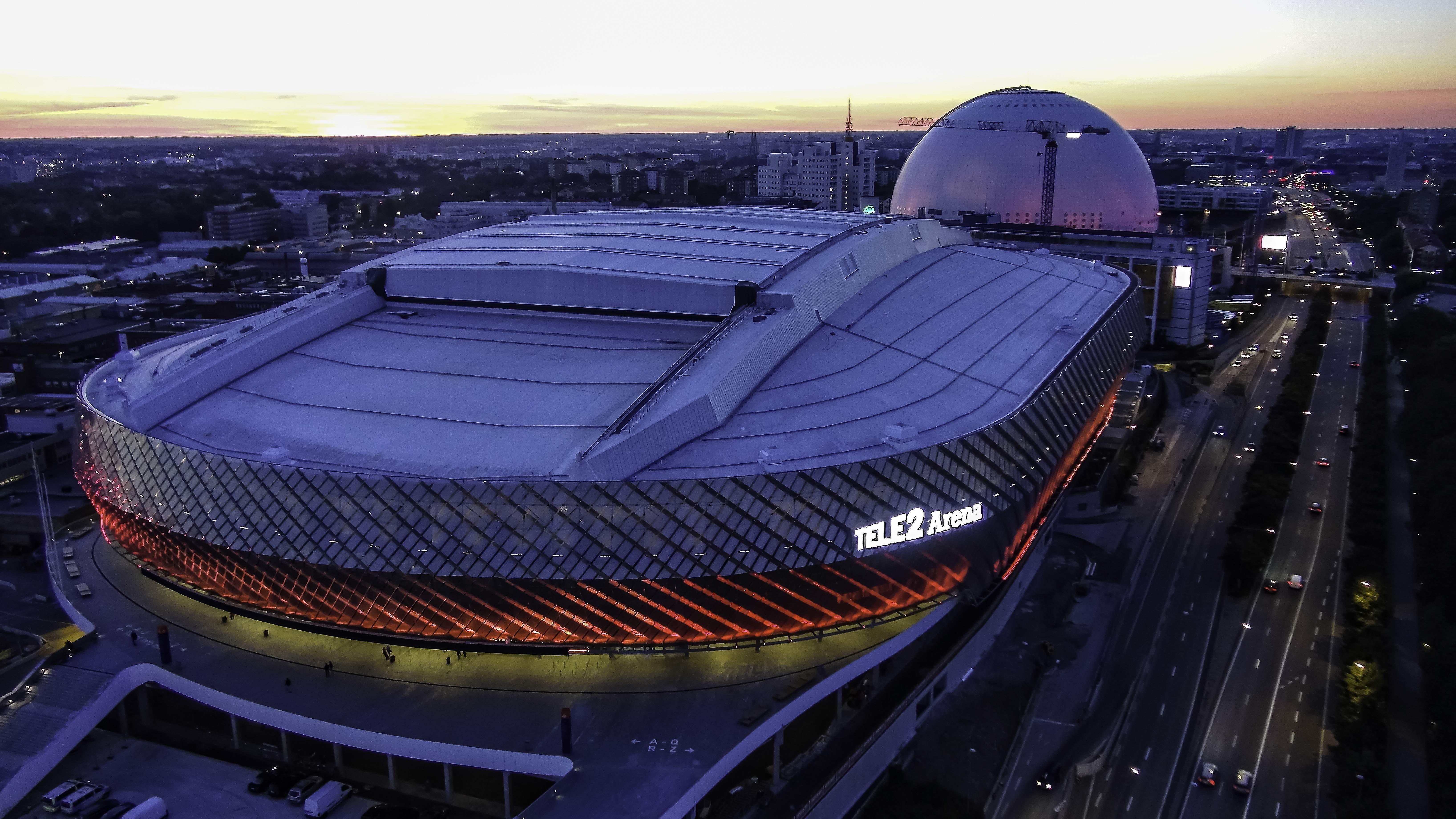 tele2 arena stockholm globe arenas. Black Bedroom Furniture Sets. Home Design Ideas