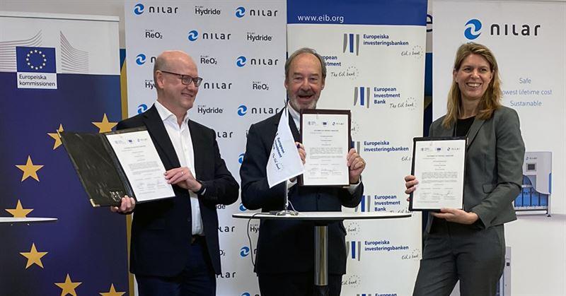 EU ger ytterligare std till innovativ svensk batteriteknologi genom Nilar