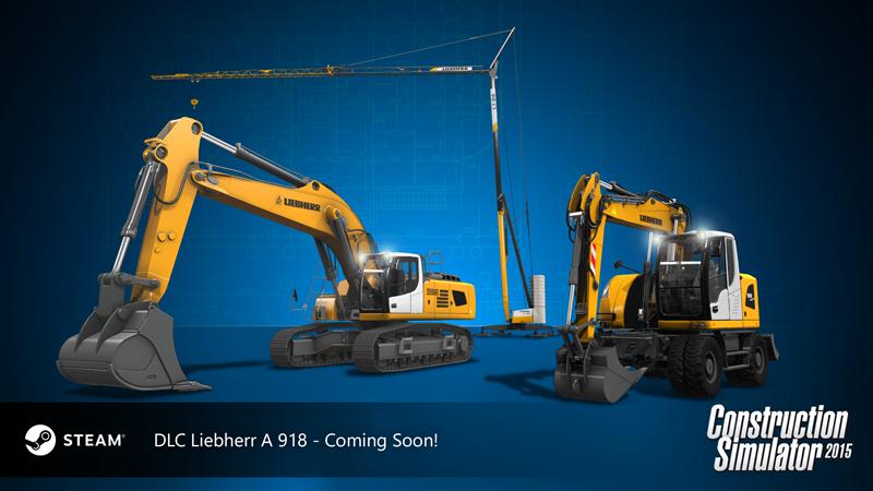 bau simulator 2015 dlc 8 liebherr a 918 astragon. Black Bedroom Furniture Sets. Home Design Ideas