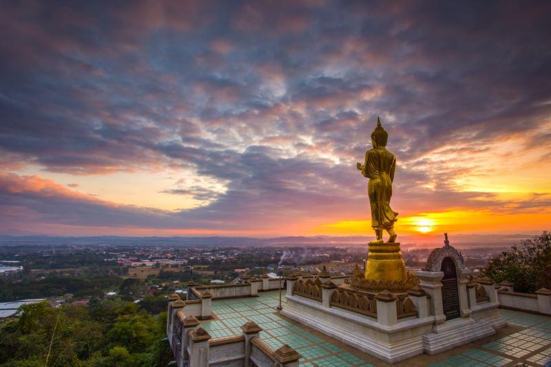 Phra Phuttha Maha Udom Mongkhon Nanthaburi Si Nan Buddha Image in Phrathat Khao Noi Temple