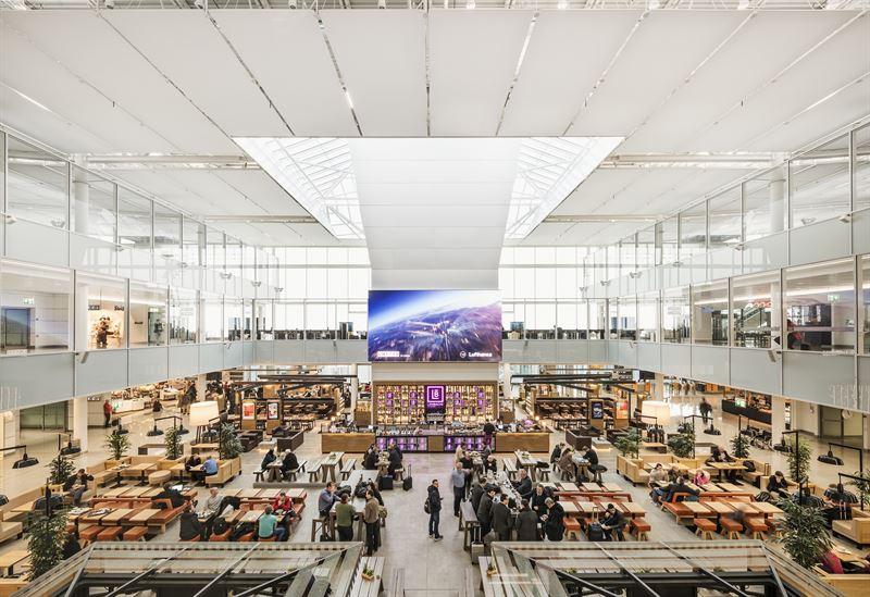 Sala partenze del terminal aeroporto muc monaco di baviera