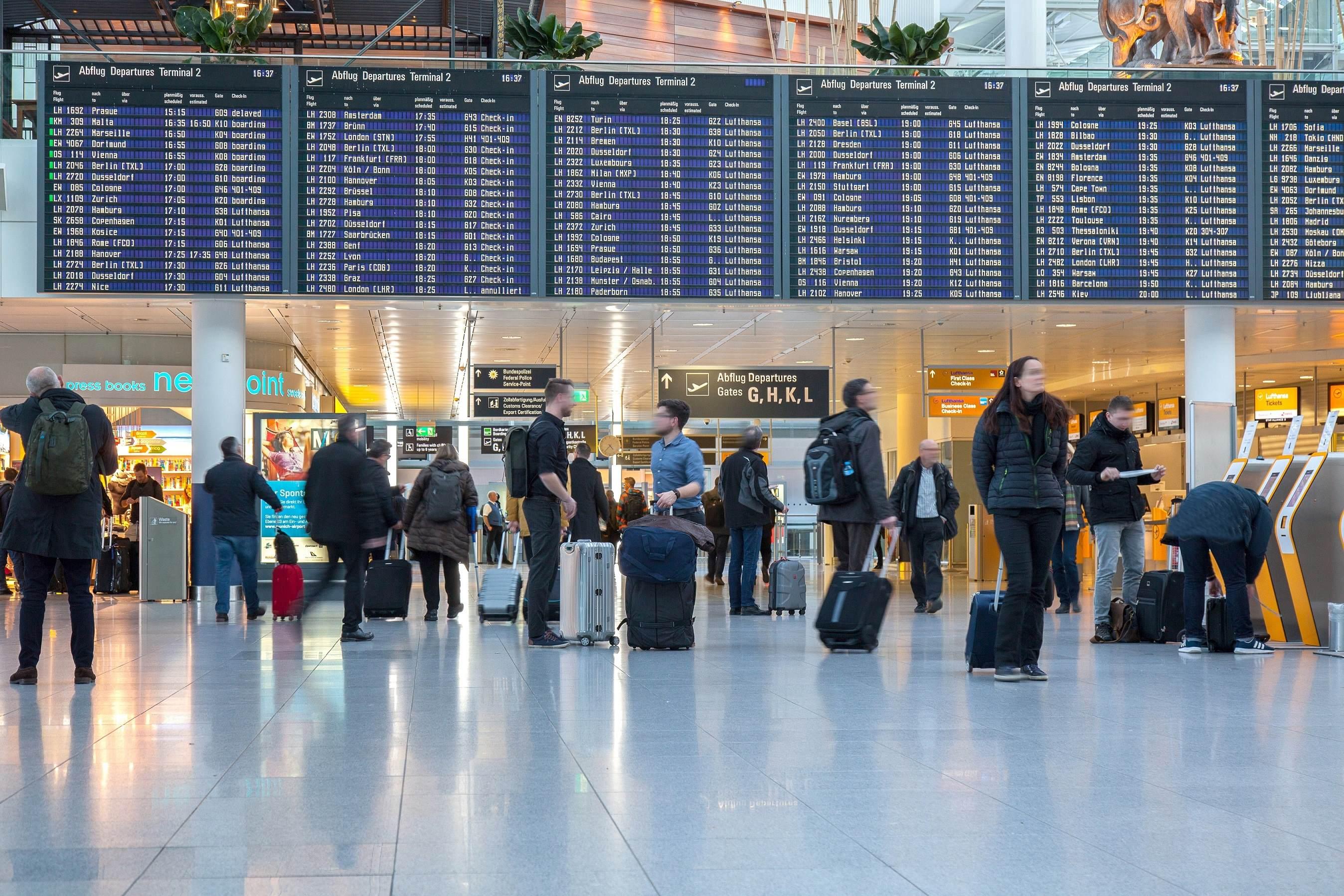 Flughafen münchen abflug