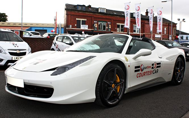 Ferrari For A Courtesy Car Only At Cartime Cartime