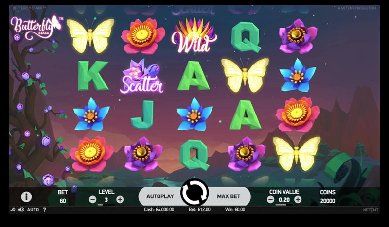 screenshot butterfly staxx maingame