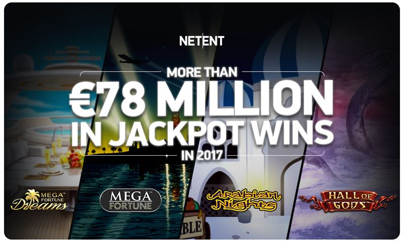 MORE THAN 78 MILLION IN JACKPOT WINS IN 2017
