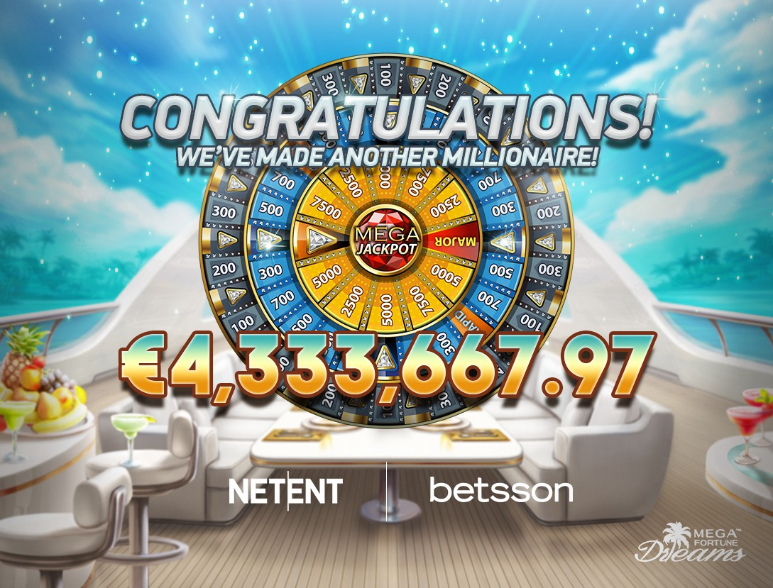Netent S Mega Fortune Dreams Pays Out Yet Another Multi Million Euro Jackpot Netent Better Gaming