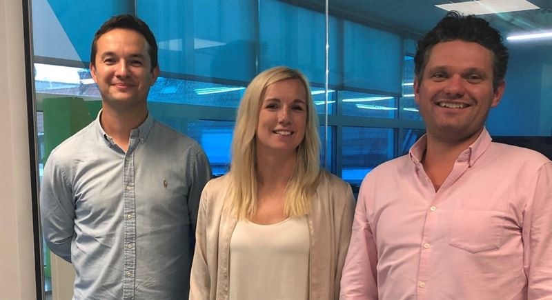 Andy Whitworth Chief Strategy Officer and MD of NetEnt UK ltd Therese Hillman CEO of NetEnt and Matt Cole Managing Director of Blueprint